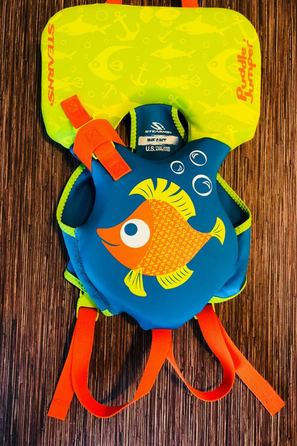 Blue and Green Infant Life Jacket by puddle jumper