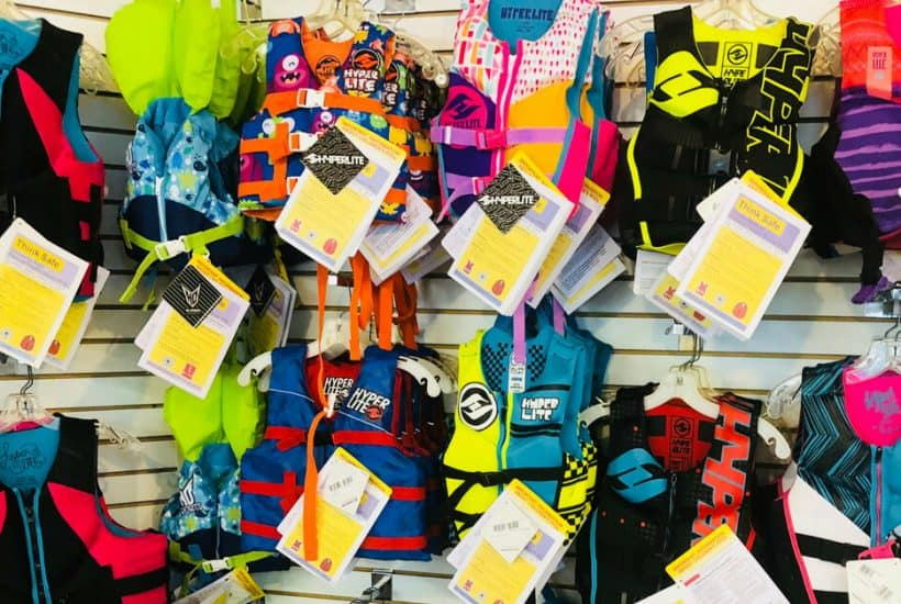 Store display of Infant Life Jacket