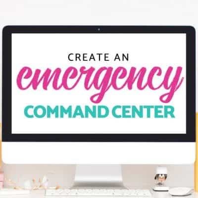 Create a Family Emergency Command Center