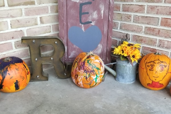 image of painted pumpkins