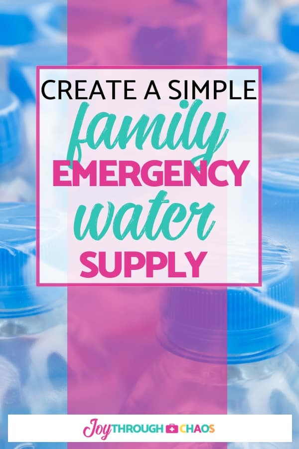 You need to know exactly how much water your family needs to create an emergency water supply to sustain you during a potential disaster. Let's find out!