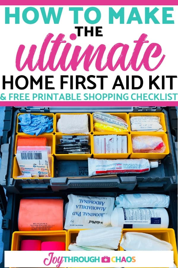 A fully stocked DIY family first aid kit gives you the ability to help your child faster. Grab the printable shopping checklist and make yours today!