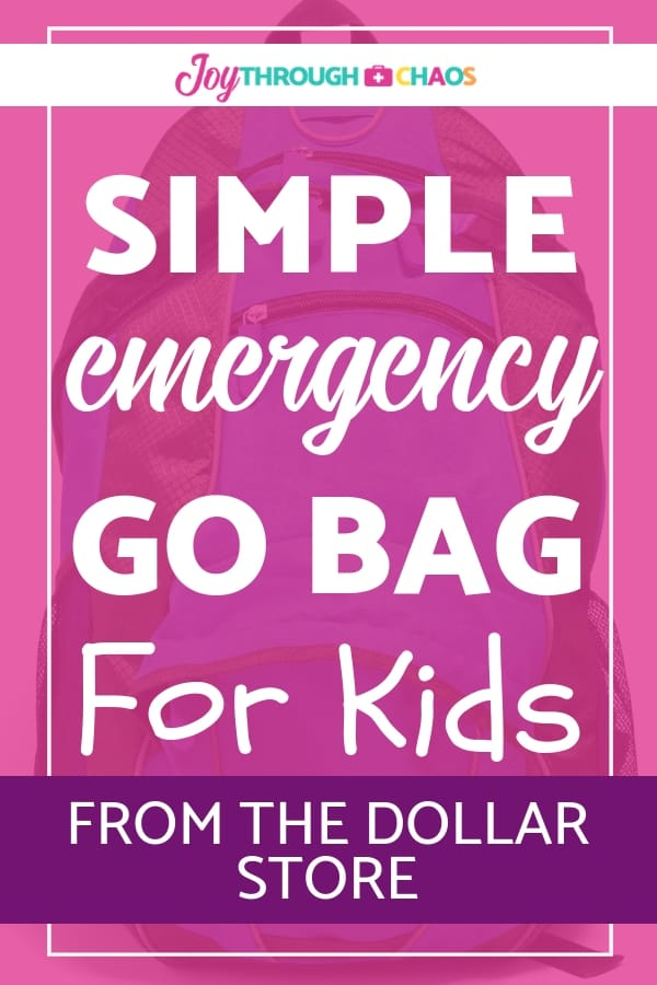 Make an emergency grab and go bag for your kids to be prepared for an evacuation in the case of an emergency. Get the list of simple items you need!