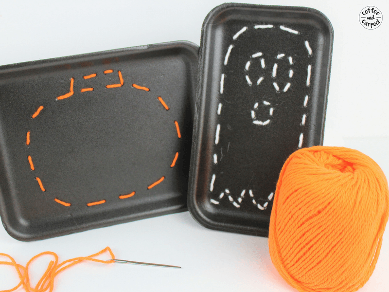 Simple Halloween sewing craft for kids