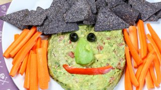 Halloween Witch Chips and Guacamole