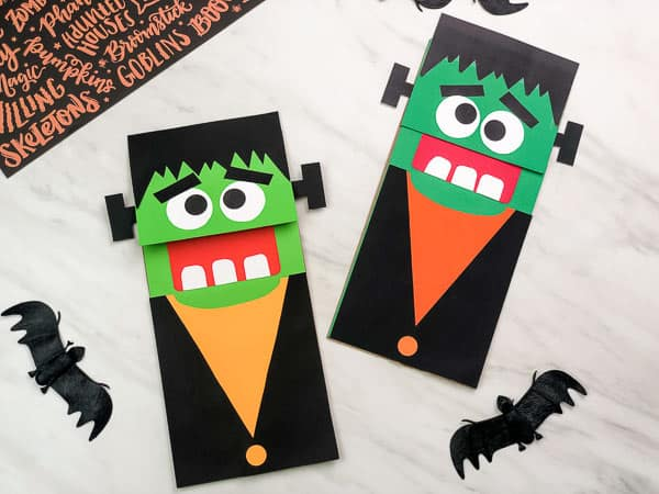 Simple Paper bag monster craft