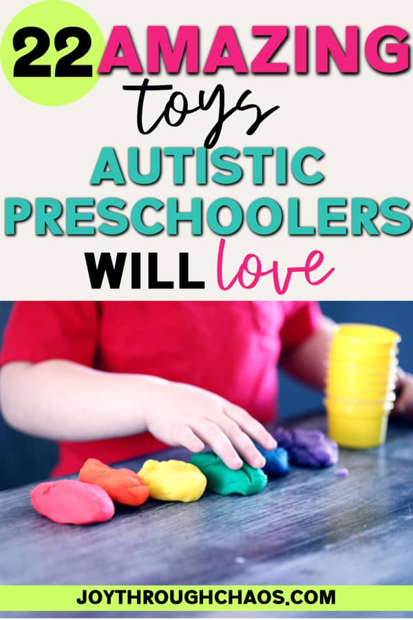 child playing with bright play doh