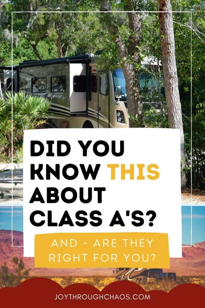 Class A RV at a campground
