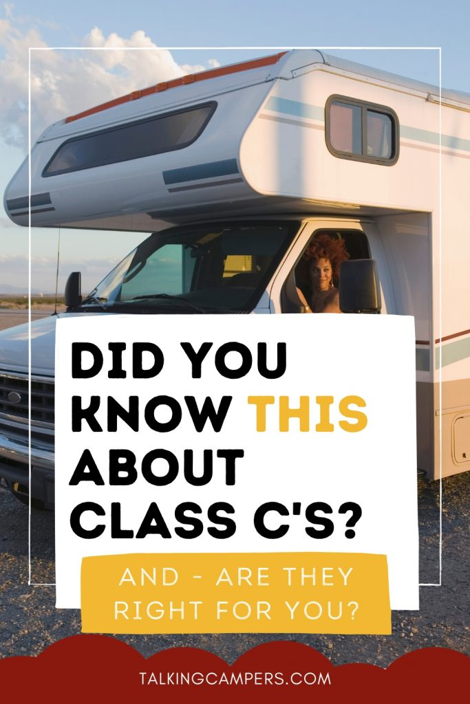 Class C RV with person in driver seat